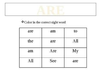 Sight word bundle (Kindergarten)