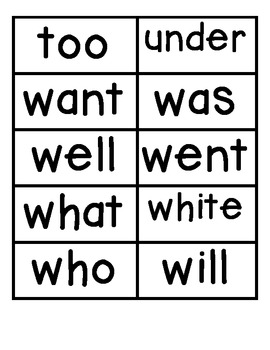Sight word cards Pre-Primer, Primer, First
