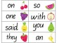 Sight word cards- fruit themed