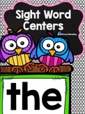 Sight word center activities for THE
