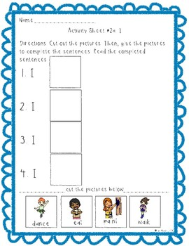 Sight word fill in the sentence