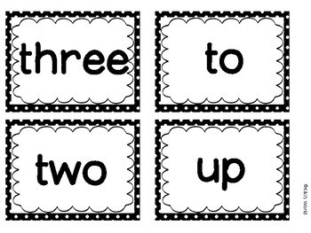 Pre-primer sight word flash cards (Word wall)
