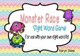 Sight word game boards - Monster theme