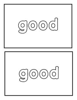 "Sight word ""good"" Emergent Reader"