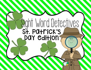 St. Patrick's Day sight word hunt