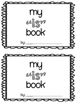 "Sight word ""is"" book"