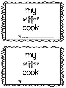 "Sight word ""it"" book"