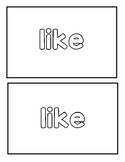 "Sight word ""like"" Emergent reader"