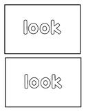 "Sight word ""look"" Emergent Reader"