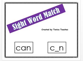 Sight word match up