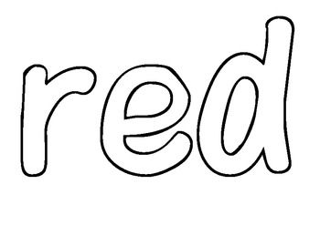 Sight word of the Day RED