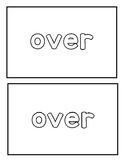 "Sight word ""over"" Emergent Reader"