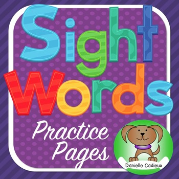 Sight word pages Kindergarten (Canadian)
