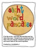 Sight word pancakes