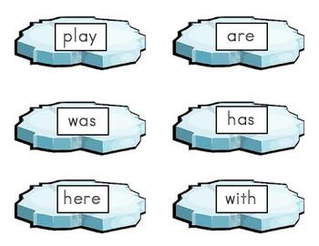 Sight word penguin match