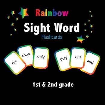 Rainbow Colored Sight Word Flashcards / Playing Cards
