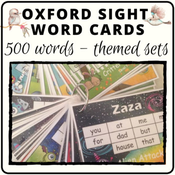 Oxford sight word practice cards or word wall contains 500 words