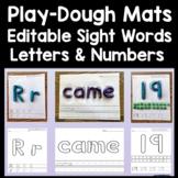 Sight Word Playdough Mats Bundle - Editable! {220 Sight Wo
