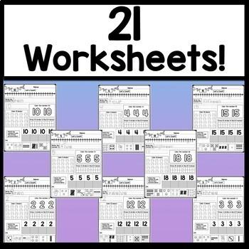 Number Worksheets 1-20 {20 Kindergarten Math Worksheets!}