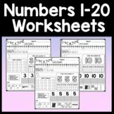 Number Worksheets 1-20 {Kindergarten Math Worksheets}
