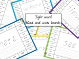Sight word read and write boards
