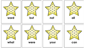 Sight word recognition game kinder and first!