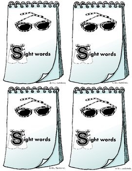 Sight word recording notebook