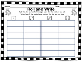 Sight word roll and write