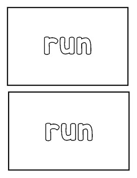 "Sight word ""run"" Emergent Reader"