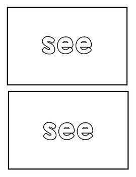 """Sight word """"see"""" Emergent Reader"""