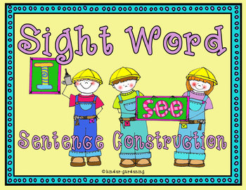 Sight word sentence construction Part One