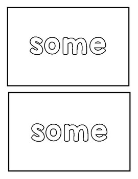 "Sight word ""some"" Emergent Reader"