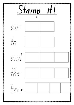 Sight word stamp it