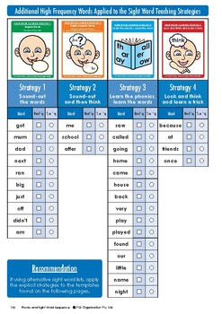 Sight word teaching and assessments for Year 3