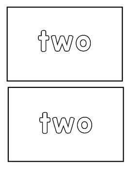 "Sight word ""two"" Emergent Reader"