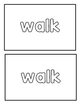 """Sight word """"walk"""" Emergent Reader"""