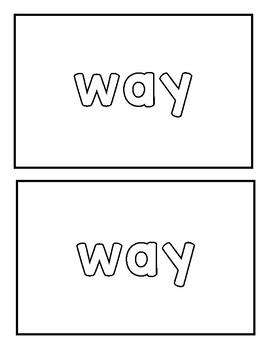 """Sight word """"way"""" Emergent Reader"""