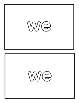 "Sight word ""when"" Emergent Reader"