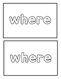 "Sight word ""where"" Emergent Reader"