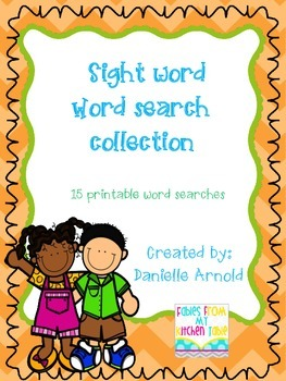 Sight word word search