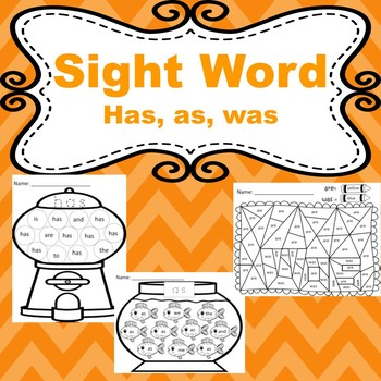 Trick words: has, as, was