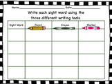 Sight word writing