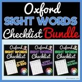 Oxford Sight Words 0-300 Checklist BUNDLE