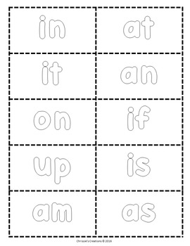 Sight words  Fry 1-100  listed in patterns {Printables}