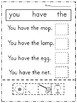 Sight words - Pre Primer and Primer - Practice Activity Sheets - RTI