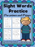Sight Word Practice for Pre Primer and Primer Words