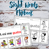 Sight words - 26 printable mini flipbooks Spanish/English