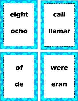 Sight words (English/Spanish)