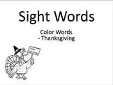 Sight words - Thanksgiving theme
