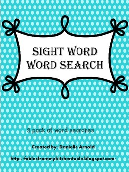 Sight words- Word search